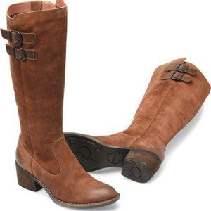 "Born ""Basil"" Brown suede leather tall boot NEW"